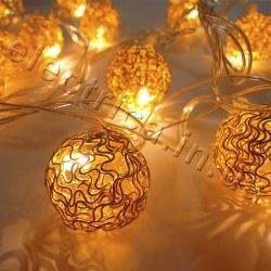 Гирлянда Золотые шарики внутренняя