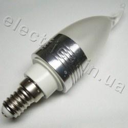 Светодиодная лампа 220В E14 1x3 LED Свеча