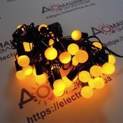 Гірлянда Кульки внутрішня 36 led жовтий колір