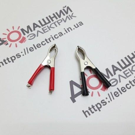Зажим аккумуляторный красный+черный 30А