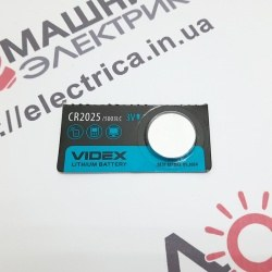 Батарейка дисковая Videx CR2025 Lithium 3V