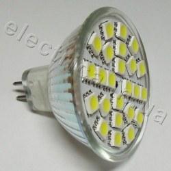 Светодиодная лампа 12В MR16 24x5050 эконом