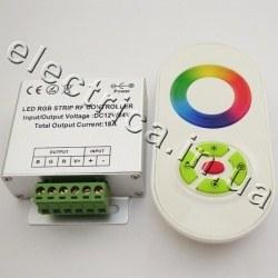 Контроллер 18A RF 5 кн RGB сенсор белый