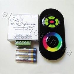 Контроллер 18A RF 5 кн RGB сенсор черный
