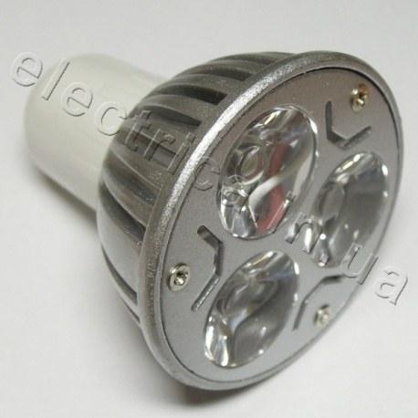 Светодиодная лампа 220В MR16 3*1W