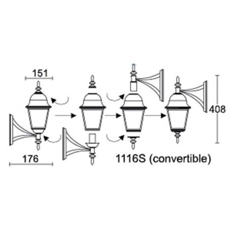 Светильник Wimbledon I QMT 1116S