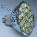 Светодиодная лампа 220В MR16 21x5050 эконом