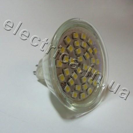 Светодиодная лампа 220В MR16 36x3528 эконом