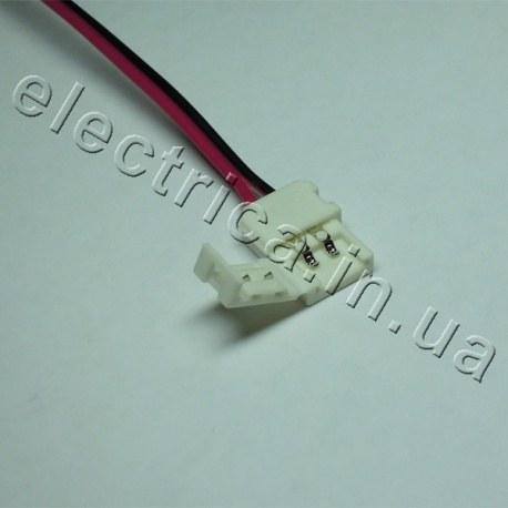 Штекер для ленты 10мм соединитель-провод