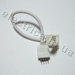 Штекер для ленты 10мм RGB соединитель-провод-вилка