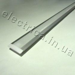 LED Профиль 1 м врезной с рассеивателем 17(25)*6*1000