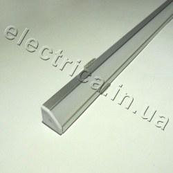 LED профиль 1 м угловой с рассеивателем 18*18*1000