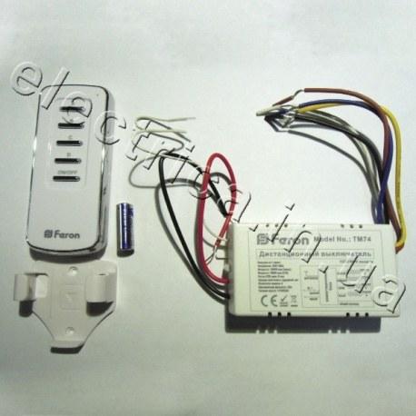 Дистанционный выключатель FERON TM74 1000W 30M