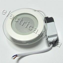 Светильник со стеклом круглый точечный светодиодный