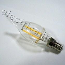Светодиодная лампа FERON LB-59 Е14 4W 220В свеча на ветру