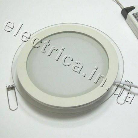 Светильник точечный светодиодный со стеклом круглый