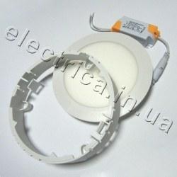 Светильник НАКЛАДНОЙ 12 Вт пластик круглый точечный светодиодный