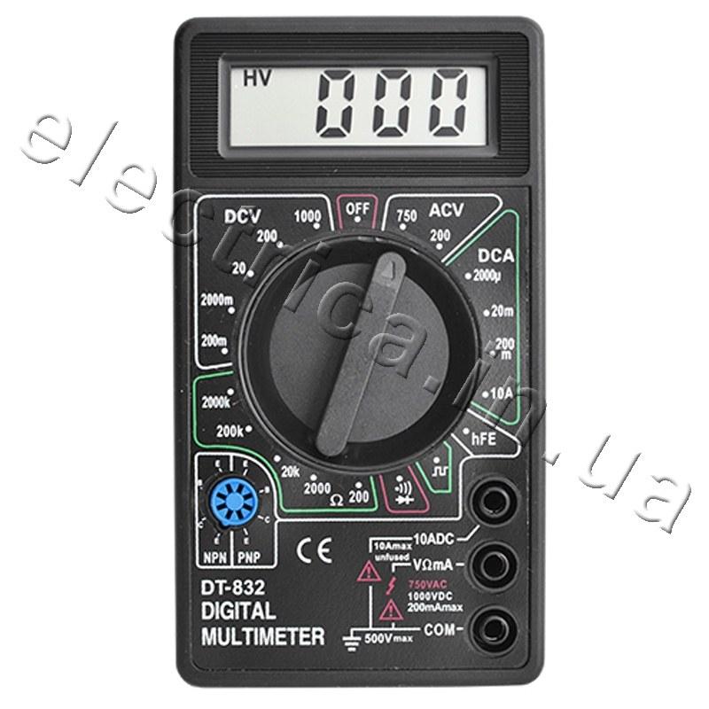 цифровой мультиметр dt-832 инструкция цена