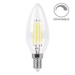 Светодиодная лампа FERON LB-68 Е14 4W 220В свеча на ветру ДИММИРУЕМАЯ