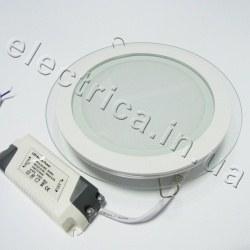 Светильник со стеклом 12 Вт круглый точечный светодиодный
