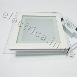Светильник со стеклом 12 Вт квадратный точечный светодиодный