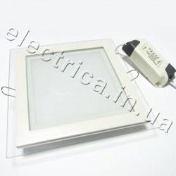 Светильник со стеклом 18 Вт квадратный точечный светодиодный