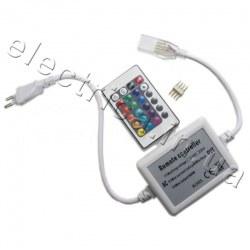 Контроллер с ИК пультом для светодиодной ленты FLEX 5050 RGB 220 V