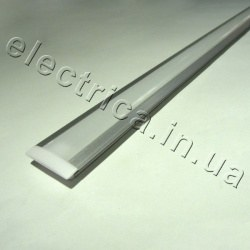 LED Профиль врезной с рассеивателем 16(21)*7*2000
