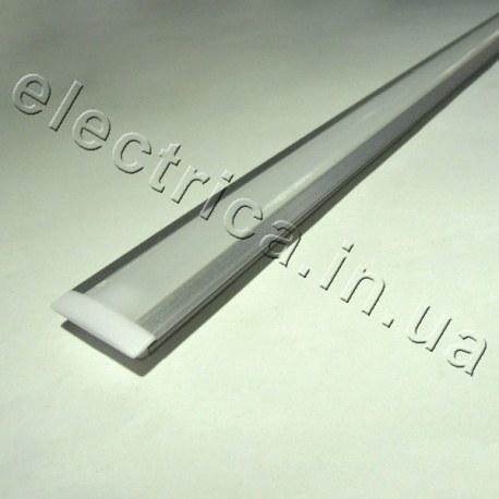 LED Профиль врезной с рассеивателем 17(25)*6*1000