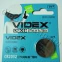 Батарейка дисковая Videx CR2032-U5 Lithium 3V