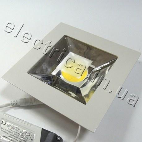 Светильник точечный на мощном светодиоде COB квадратный