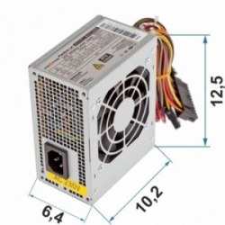 Блок питания LogicPower MICRO MATX 400W, fan 8 см, 2 SATA