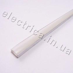 LED Профиль 2 м накладной с рассеивателем 15*6*2000 не анодированный