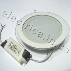 Светильник со стеклом 16 Вт круглый точечный светодиодный