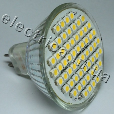 Светодиодная лампочка 220В MR16 60x3528