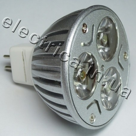 Светодиодная лампа 12В MR16 3*1W эконом