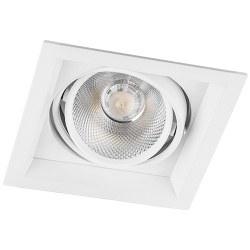 Світильник врізний Feron 12W AL201 COB білий