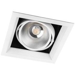 Світильник врізний Feron 30W AL211 COB біла рамка