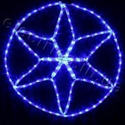 Световое украшение DELUX мотив STAR flash (6 конечная)