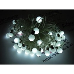 Гирлянда Шарики 36 LED 6,8 м внешняя белый цвет