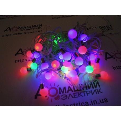 Гирлянда Шарики 36 LED 6,8 м внешняя