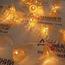 Светодиодная гирлянда Золотые колокольчики внутренняя 20 светодиодов