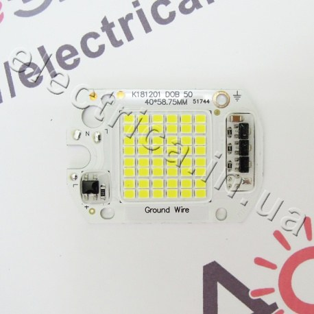 Светодиодная матрица 50W SMD с IC драйвером 220V