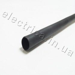 Термоусадочная трубка с клеем 6,4/2,2 мм черная