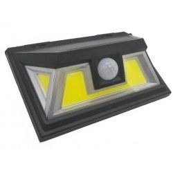 Светодиодный светильник LED COB 10W солнечная батарея настенный